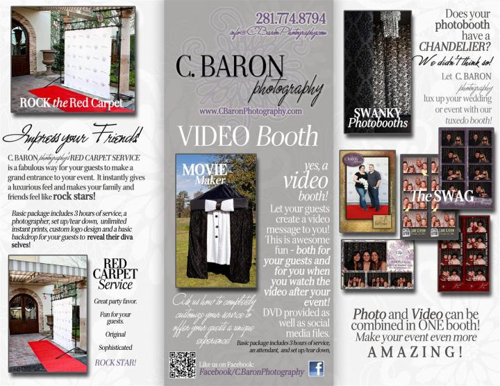 Houston, Texas, Open Photobooth, Video Booth, Red Carpet Service, Instant Prints, C. Baron Photography