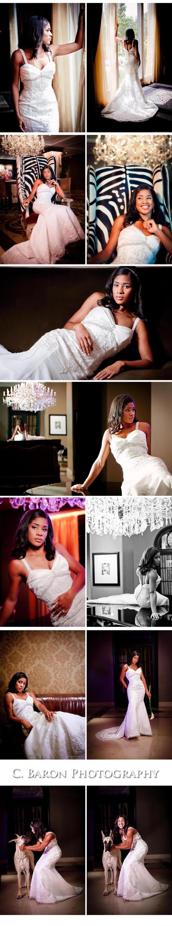 Hotel ZaZa Houston Wedding Photographer Glamorous Platinum Damask B&W