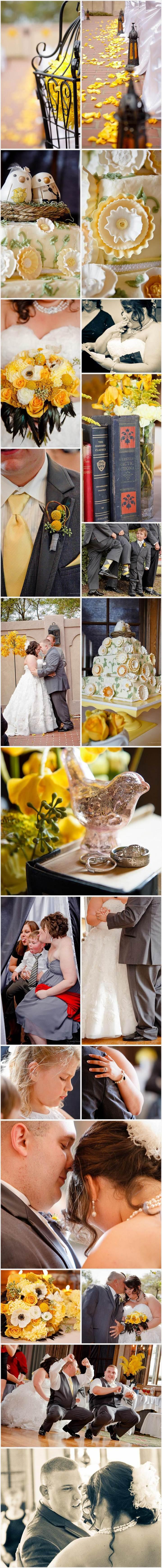 Yellow, Grey, Silver, Birds, Wedding, houston Wedding Photographer, Houston Wedding Videographer, Swanky Photobooth,