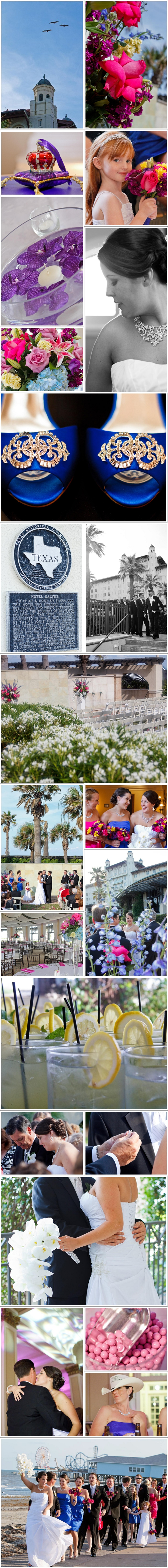 Galveston Wedding Photographer, beach, historic hotel, Hotel Galvez and Spa, Wyndham, outdoor ceremony, sunset ceremony, colorful, seawall, Pleasure Pier, strapless gown, first look, Houston Wedding Photographer