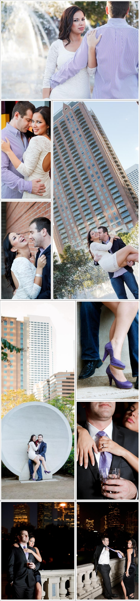 C. Baron Photography, Houston's Best Engagement Photographer, Discovery Green, Urban, downtown, skyline, night session, Buffalo Bayou, Sabine Street, black tie, park