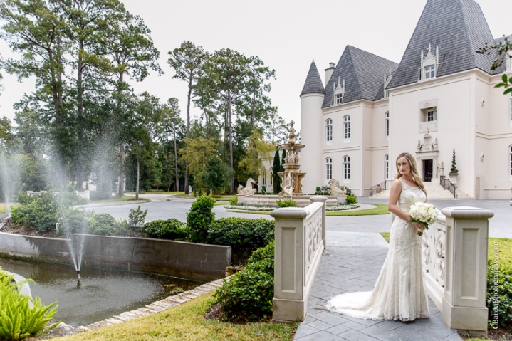 C. Baron Photography, Houston Wedding Photographer, Chateau Cocomar, elegant, classic, ballroom, chandelier, fireplace, fall, statue