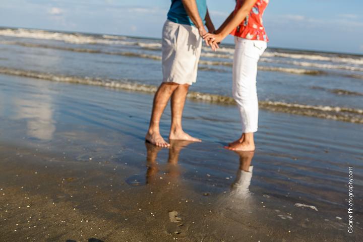 C. Baron Photography, Galveston Engagement Photographer, Galveston Wedding Photographer, beach, sand, seashells, seagulls, waves