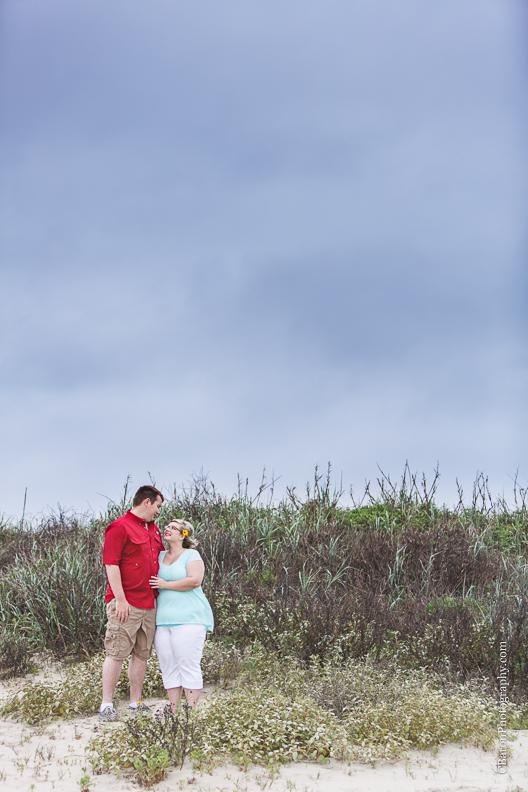 C. Baron Photography, Galveston Engagment Photographer, Houston Engagement Photographer, Galveston Texas, beach, sand, waves, seagulls, sand dune, garden, rainy