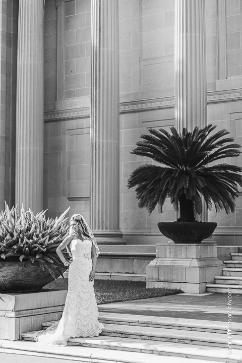 C. Baron Photography, Houston Wedding Photographer, Museum District, Hotel ZaZa, Museum of Fine Arts Houston, MFA, strapless, spring, elegant, classic, traditional, columns