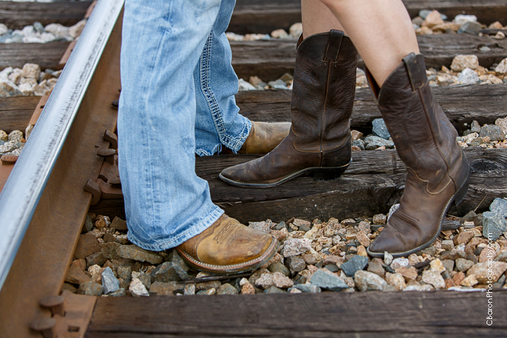 Houston Wedding Photographer, Tomball Wedding Photographer, NW Houston, Park, Rustic, Cowboy Boots, Railraod Tracks, Engagement, Park,