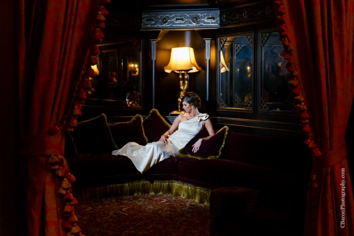 C. Baron Photography, Houston Wedding Photographer, Hotel Icon, downtown, Damsel White Label, one shoulder wedding dress, neoclassical, lux, modern, purple, chandeliers, penthouse, the Den