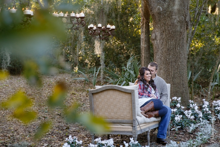 C. Baron Photography, Houston Engagement Photographer, autumn, barn, chair, chandeliers, couple, fall, flowers, rustic, spanish moss, cyclamen, hydrangeas, logs, dogs, flannel, boots, candles