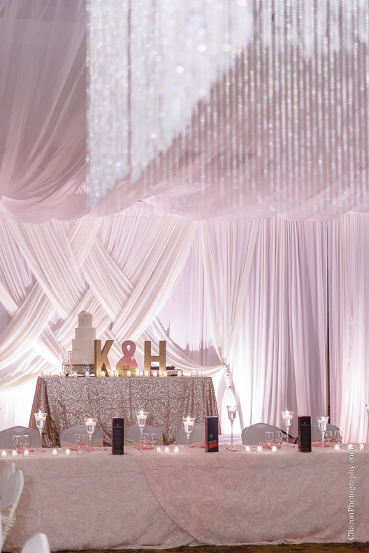 C. Baron Photography, Houston Wedding Photographer, Notre Dame Catholic Church, blush, bride, groom, couple, confetti cannons, confetti poppers, gold, stained glass, cathedral veil, Vietnamese, chandelier, sparklers, South Asian