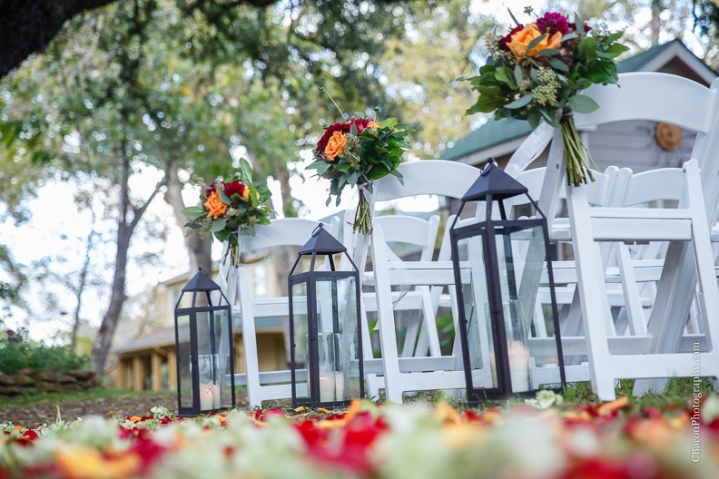 C. Baron Photography, Houston Wedding Photographer, Spring, Texas, fall, water fountain, mariachis, chandelier, outdoor wedding, outdoor ceremony, scrabble, red, roses, Floral Events, Oak Tree Manor, petals