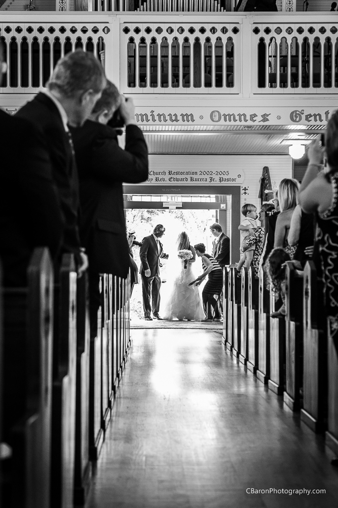 C. Baron Photography, Houston Wedding Photographer, Olde Dobbin Station, St. Mary's Catholic Church, 53 Chevy pickup truck, sparklers, 2014, country chic, first look, hot, pink, white, cowboy boots, sunglasses, strapless, ruffles, lace, cathedral veil, s'mores, stained glass, painted church, Texas, Paloma Blanca