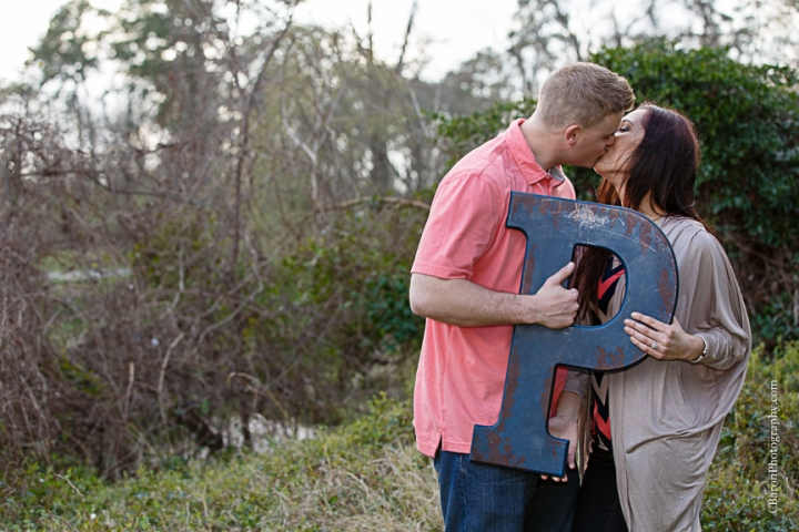 C. Baron Photography, Houston Wedding Photographer, Cypress, Cypress Wedding Photographer, couple, engagement, outdoors, trees, park, path, sunset