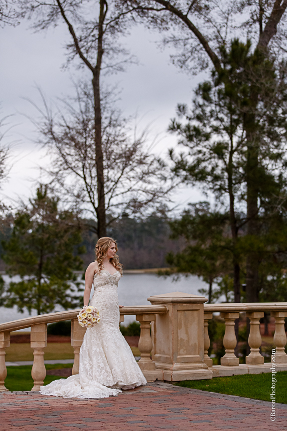 C. Baron Photography, bridals, Carlton Woods, formals, Houston Wedding Photographer, Texas, The Woodlands, Woodlands Wedding Photographer, strapless, veil, Florals Events, lace, trees, lake, Brickhouse Bridal
