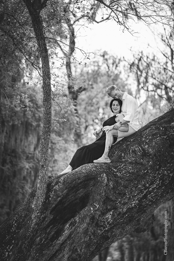 Brazos Bend; Brenham Wedding Photographer; C. Baron Photography; Engagement; Fort Bend County; Houston wedding PHotographer; Live Oak; Nature; Park; Spanish Moss; Spring; couple;