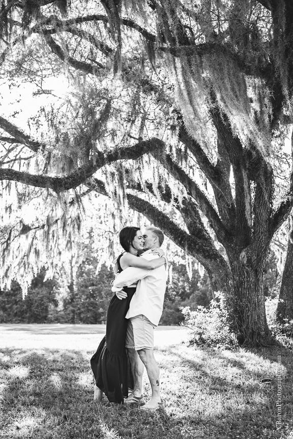 Brazos Bend; Brenham Wedding Photographer; C. Baron Photography; Engagement; Fort Bend County; Houston wedding PHotographer; Live Oak; Nature; Park; Spanish Moss; Spring; couple;