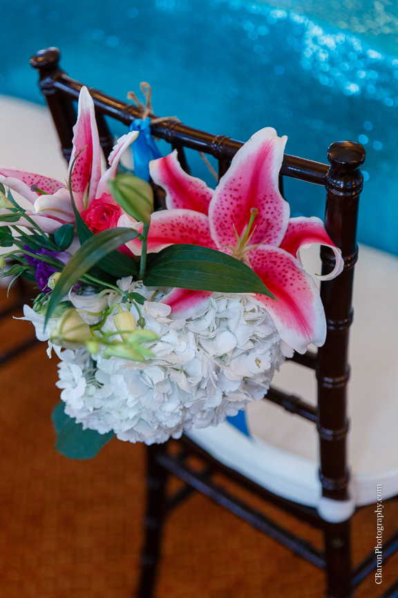 C. Baron Photography; Casablanca lilies; Cinderella cake; Couple; Galveston Wedding Photographer; Hotel Galvez; Houston Wedding Photographer; Music Hall; Spring; Strapless; Texas; blue; blue galaxy orchid; bride; confetti; dendrobium; first look; galveston; groom; lace; purple; rain; reception; sand; seawall; ceremony; singapore orchid; teal;