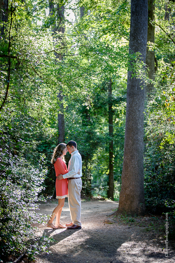 C. Baron Photography; Couple; Houston Engagement Photographer; Houston Wedding Photographer; Nature; Outdoors; Park; Spring; Texas; Woodlands Engagement Photographer; flowers; swamp;
