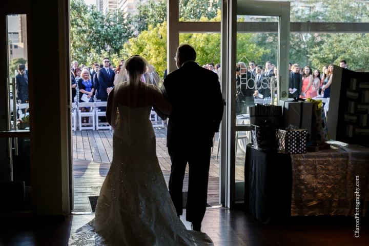 2014, black C. Baron Photography, Discovery Green, dountown, fall, bubbles, Hilton Americas, Houston, Houston Wedding Photographer, October, park, strapless, Texas, The Grove, Treehouse, white metallic, Oleg Cassini