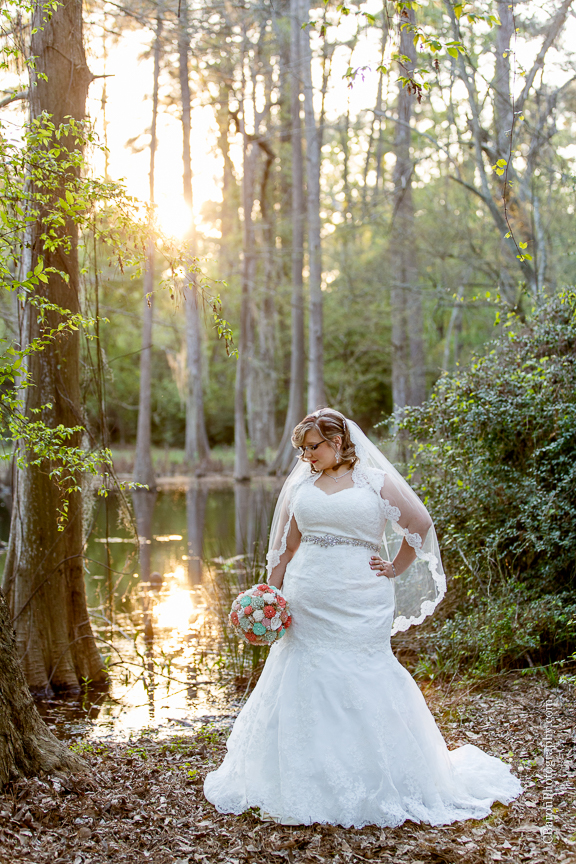Bog; Bridals; C. Baron Photography; Garden; Houston Wedding Photographer; Outdoor; Spring; Sunset; Swamp; Texas; cypress; formals; lace; nature;