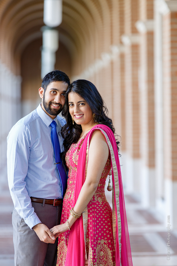 C. Baron Photography; Couple; E-session; Engagement; Houston Engagement Photographer; Indian; Owls; Rice University; S. Asian; Sari;