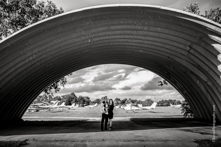 2013; Airport; C. Baron Photography; Houston Wedding Photographer; October; airstrip; chocolate lab; dog; e-session; engagement; monogram; nature; planes; purple; teal; turquoise;