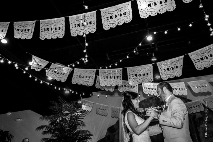 Agave Brothers; Agave Estates; Agave Real; Agave Road; C. Baron Photography; Dad's first look; First Look; Houston Wedding Photographer; Katy; Katy Wedding Photographers; Mediterranean; Papel picado; Texas; blue; bubbles; elegant; maracas; mariachis; outdoor ceremony; summer; tiffany blue;