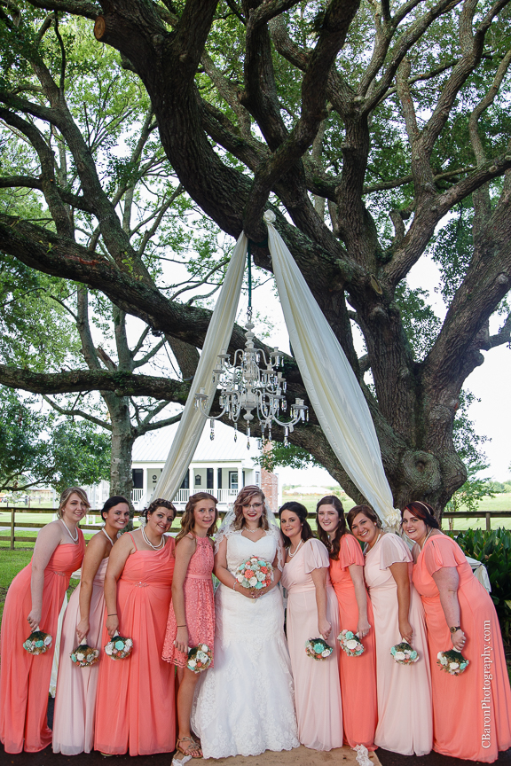 Beaumont Wedding Photographer; Bride; Broussard Farms; C. Baron Photography; Chandelier; Coral; Country. Under the tree; Couple; DIY; East Texas Weddings; Farm House; First Look; Groom; Houston Wedding Photographer; Live Oak; Mint Green; Outdoor ceremony; Paper Flowers; Peach; Ring Warming; Rustic; Sevenne Hall; Sparklers; Summer; Swag; Swanky Photobooth; Unity Cross; Vintage; Wedding; Wood Flowers; ombre;