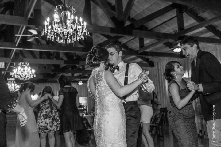 Aggies; C. Baron PHotography; Chandelier; Crystal Springs; First Look; Houston Wedding Photographer; Rain; Rainy Wedding; Southall; Texas A&M; War Hymn; Woodlands Wedding Photographer; bowtie; bride; couple; gray; grey; groom; lace gown;