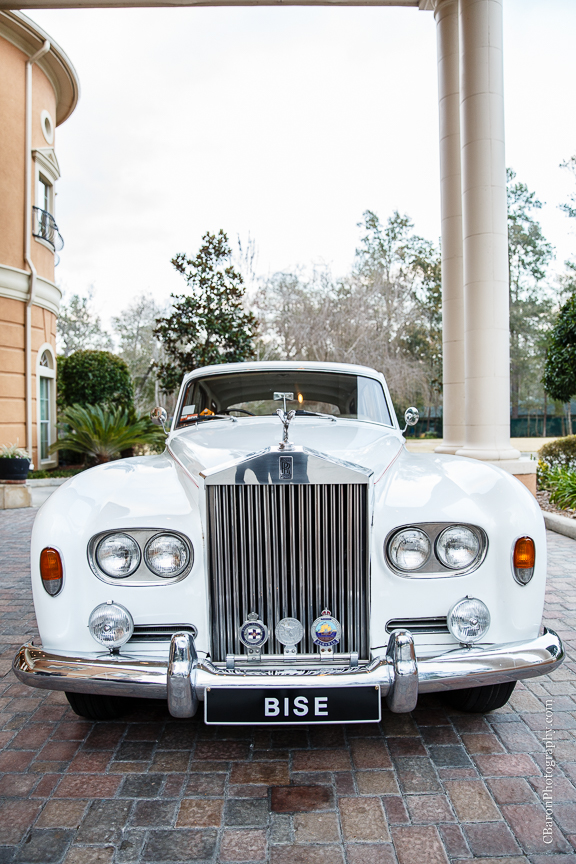 2014; Bentley; Bise; Bride; Brooch; C. Baron photography; Chateau Polenez; Cypress; Fastest Camaro; February; Floral Events; Groom; Lace Gown; Rolls Royce; Texas; Wedding; White; houston wedding photographer;