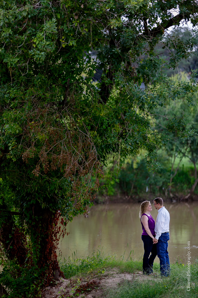 Aggies; Bayou; Bridge; C.Baron Photography; Couple; Creek; Downtown; Houston; Houston Engagment Photographer; Park; Skyline; Summer; Texas; Texas A&M;