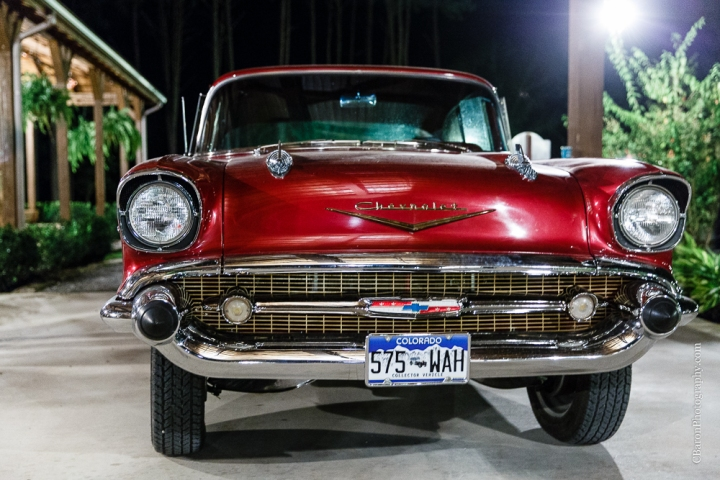 57 chevy; Bel Air; C. Baron Photography; Houston Wedding Photographer; Magnolia; Montgomery County; Southall; Texas; Woodlands Wedding Photographer; bubbles; crystal Springs; dancing; indoor ceremony; mint; red; send off; summer; teal;