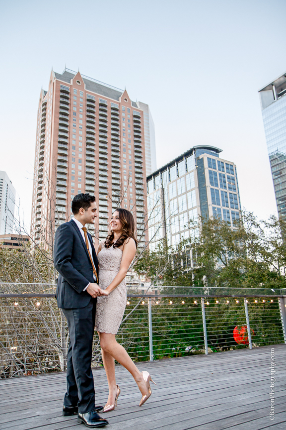 2014; C. Baron Photography; Discovery Green; Engagement Party; Evening; Houston; Houston Wedding Photographer; January; Jewelry; S. Asian; Texas; The Grove; The Treehouse; downtown;