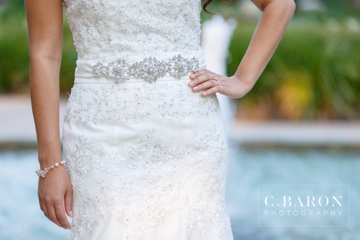 Beaded; Bridals; C. Baron Photography; Formals; Helen's Garden; Houston Wedding PHotographer; Lace; League City; Outdoors; Strapless; Texas; old church;