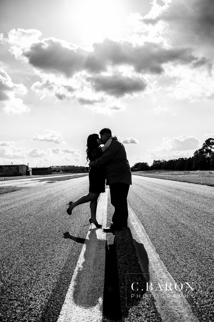 Airplane, Airport, C. Baron Photography, Couple, Cypress, Engagement, houston, May, Runway, Texas, Wedding Photographer