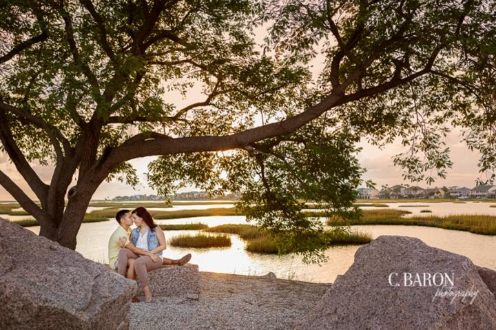 2013; Balloons; Beach; Couple; Engagement; Estuary; Galveston; Houston wedding photographer; October; Sand Dune; Sunset; banner; burlap; c. Baron Photography; diy; quilt; the strand;