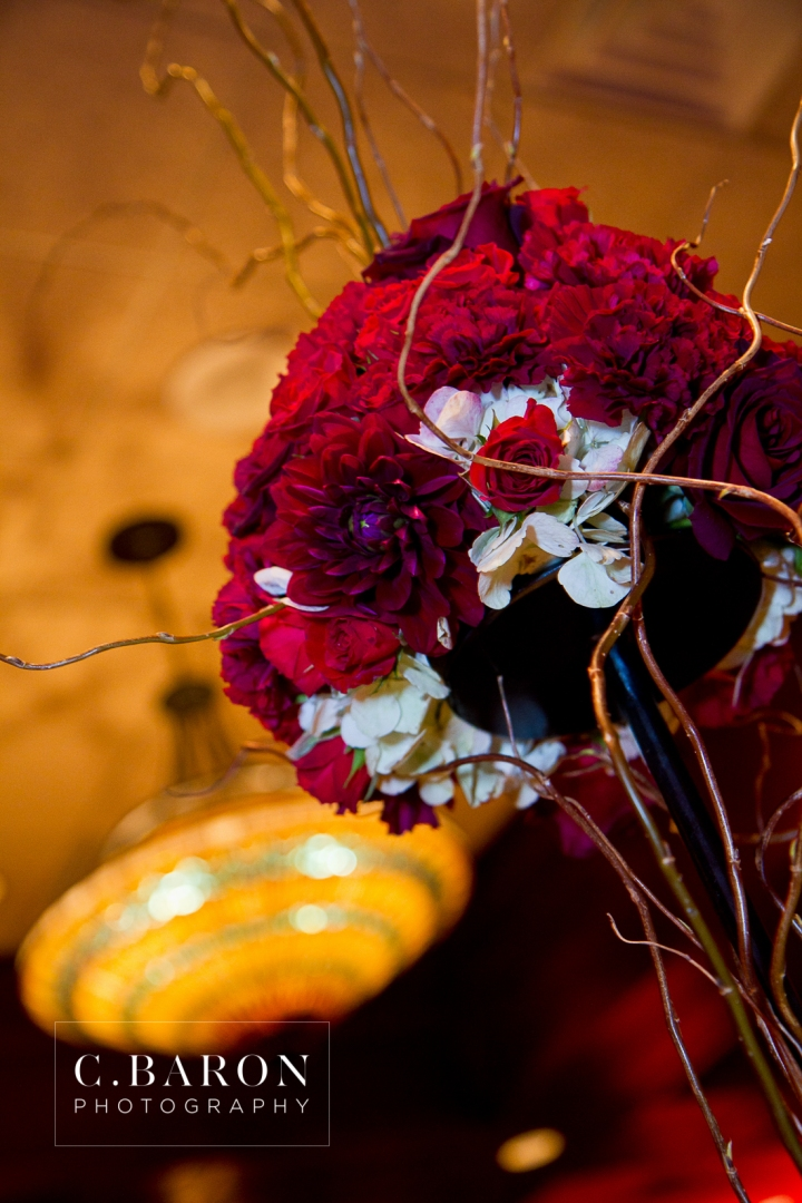 2012; Black; Bride; February; Groom; Lounge; Red; Texas; The Woodlands; Wedding; Woodlands Country Club; Woodlands United Methodist Church; couple; marriage; rose petals;