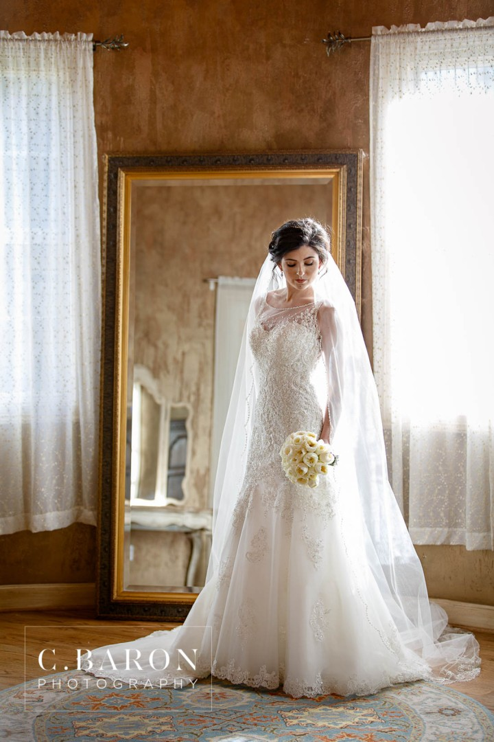 beaded veil, Bridals, C. Baron Photography, Chateau Polonez, Christian Louboutin, Houston wedding Photographer, illusion lace, Luxury Wedding, Texas