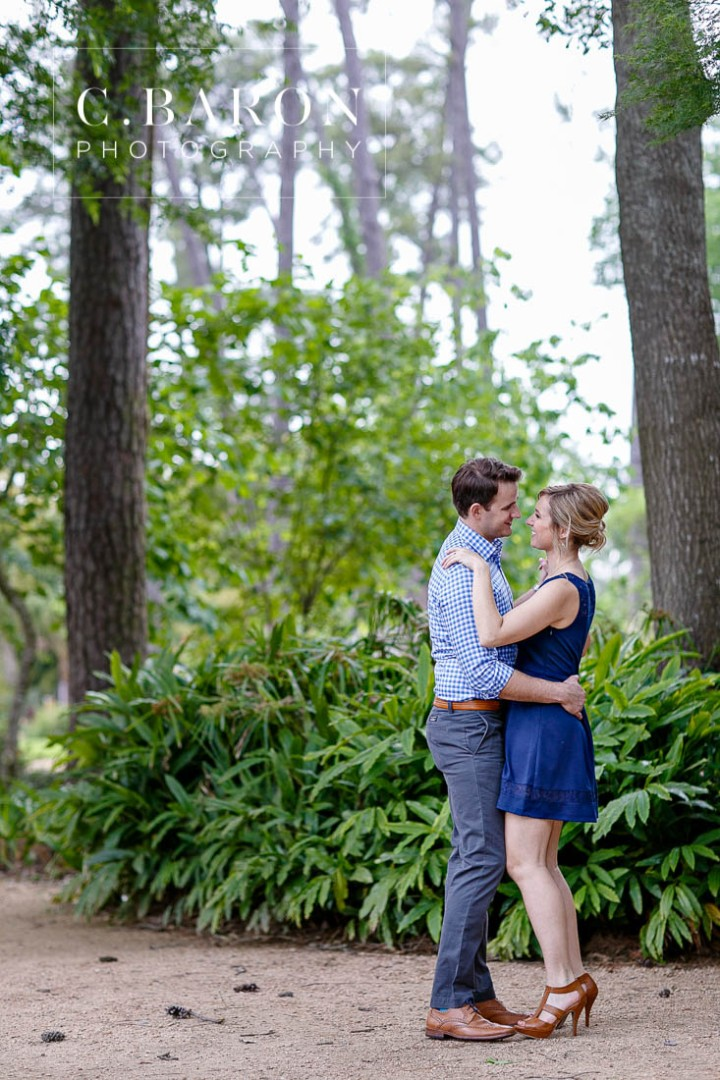 C. Baron Photography; E-session; Engagement session; Houston Engagement Photographer; Houston wedding Photographer; Nature; Park; Suit; Texas; Woodlands Engagement Photographer; Woodlands Wedding Photographer; dress; flowers; outdoors;