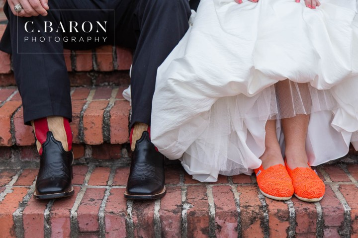 Alvin; C. Baron Photography; Charcoal Gray; Coral; Cowboy boots; Grey; Houston wedding Photographer; Oakwind Manor; Outdoor Ceremony; Outdoor reception; Patriotic; Peach; Red Barn; Sparkler Leave; Texas; Texas Barn; Tom's; Unity Cross; corvette; flag; strapless gown;