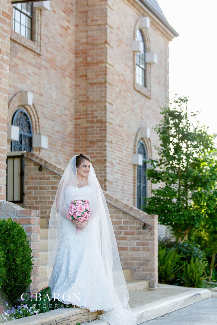 Bridals; C. Baron Photography; Formals; Houston Bridals Photographer; Raveneaux Country Club; Spring; Strapless; Texas; Veil;
