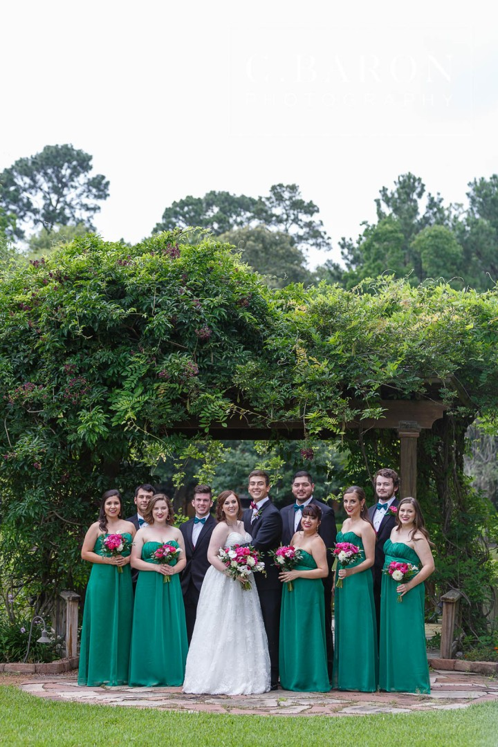 C. Baron Photography; Chateau Polonez; Cypress Texas; Emerald Green; Houston Photographer; Houston wedding Photographer; Sparkler Leave; St. Ignatius Catholic Church; summer; wedding Mass;