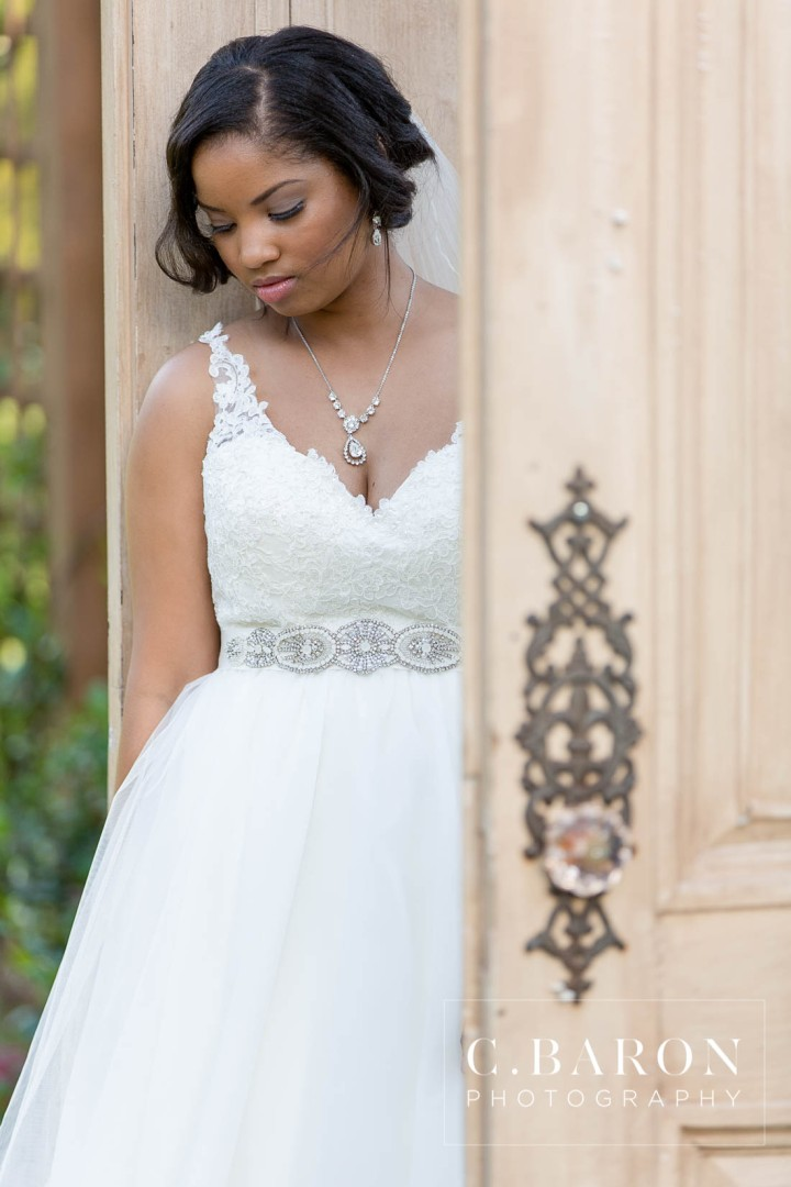 Bridal Photographer; C. Baron Photography; Conroe Wedding Photographer; Empire Waist; Formal; Houston Wedding PHotographer; Outdoor session; The Carriage House; Tulle gown; bridals; creekside;