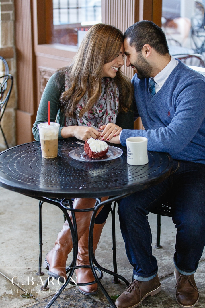 Autumn; C. Baron Photography; Coffee Shop; Couple; Engagement; Fall; Houston wedding Photographer; Nature; Rao's; S. Asian; Spring; Texas; Tomball; outdoor; trail;