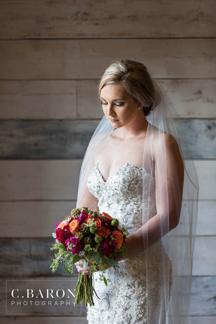 Big Sky Barn; Bridals; C. Baron Photography; Crystals; Formals; Glam; Jewel Tones; Montgomery Bridal Photographer; Rustic; Strapless; Woodlands Wedding Photographer; beaded; veil;