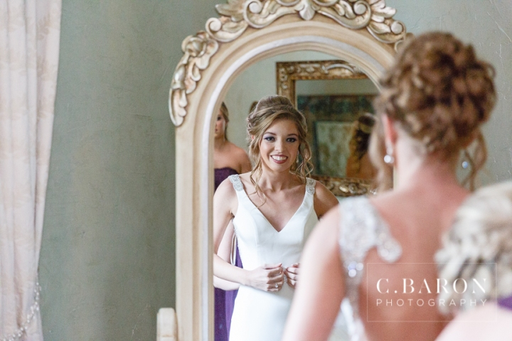 Bubble Leave; C. Baron Photography; Conroe Texas; Conroe Wedding Photographer; Houston Wedding PHotographer; Indoor Ceremony; Lavender; Madera Estates; Purple; Rainy Wedding Day; Silk Charmeuse gown; Summer time; elegant; fire pit; photobooth;