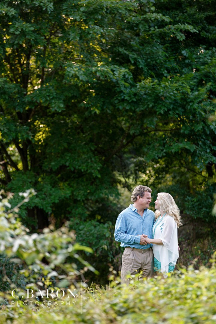 Blue, C. Baron Photography, couple, creek, Engagement, Engagement Session, Houston Engagement Photographer, lace, nature, park, Shorts, Sunset, Texas, trees, Turqouise, Woodlands Wedding Photographer