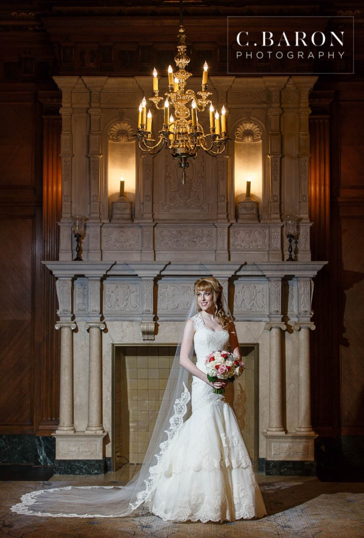 Bridals; C. Baron Photography; Carter Room; Houston Bridal Photographer; Houston wedding Photographer; J.W. Marriott; Lace gown; Texas; flower crown; houston; old building; veil;