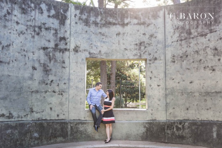 C. Baron Photography; Engagement session; Hermann Park; Houston Engagement Photographer; summer;