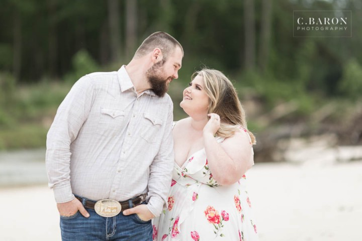 C. Baron Photography; Engagement session; Houston Engagement Photographer; Riverside; Texas Weddings; creek; rustic engagement session; summer;