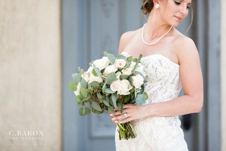 Beautiful Bridal session in European style village in the Housto
